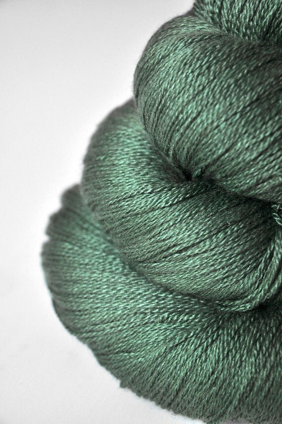 Bleached grass OOAK - Silk/Merino Yarn Lace weight