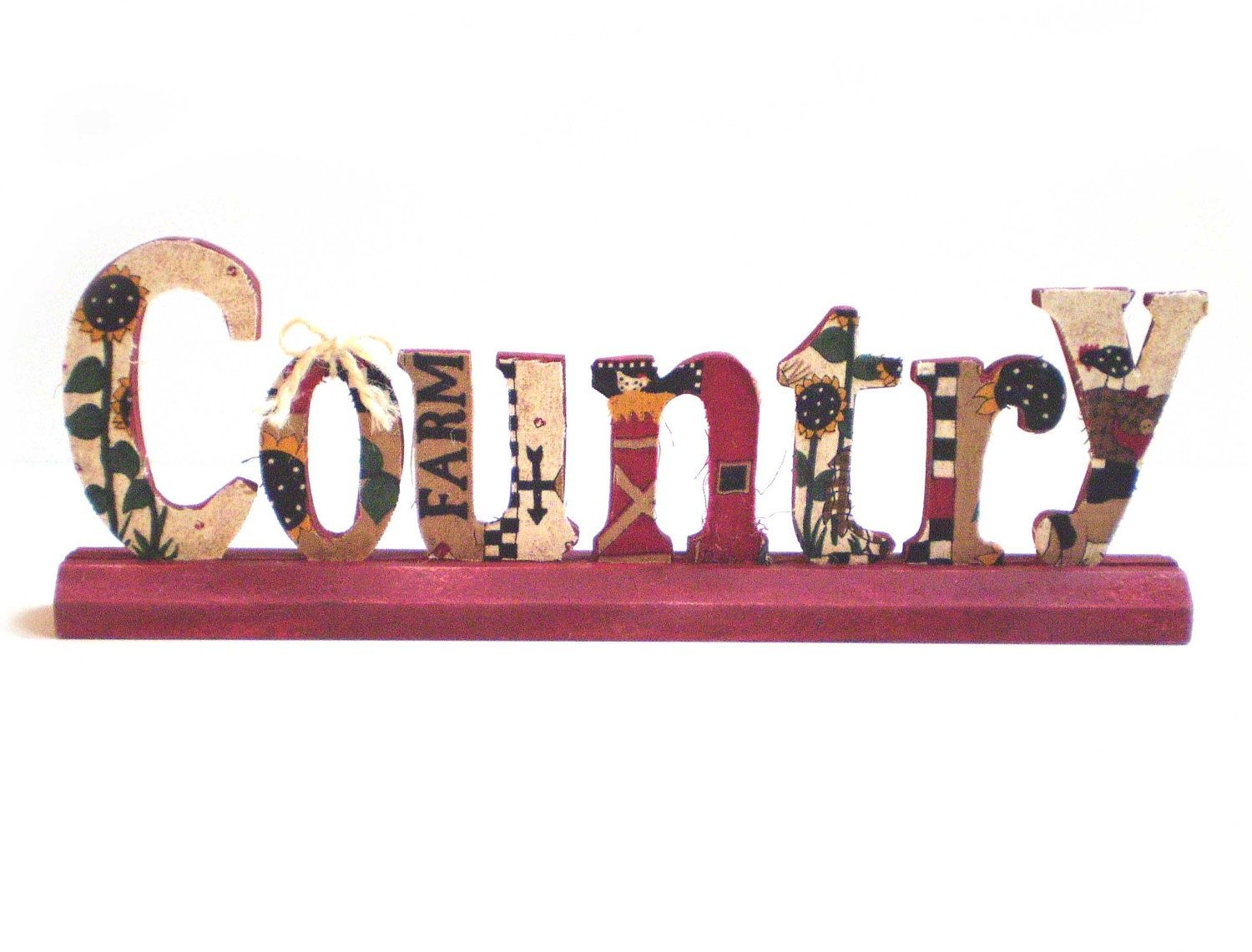 Standup word country country farm decor primitive country for Decoration word