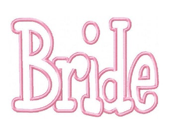 Bride Machine Applique Design 15053
