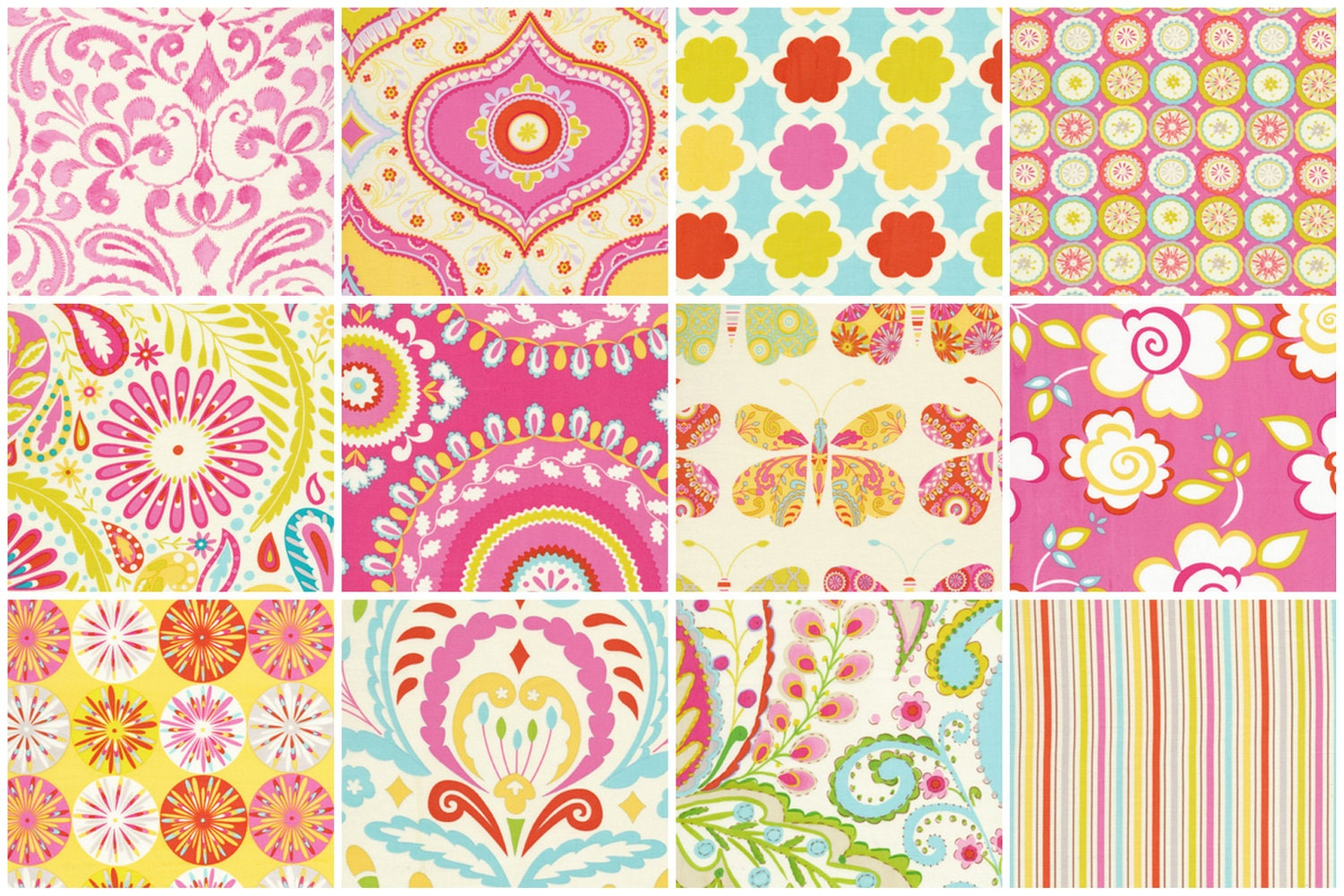Kumari garden pink jelly roll design by dena by southernfabric for Kumari garden fabric by dena designs