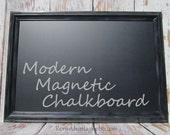 "MODERN FRAMED CHALKBOARD Framed 41""x29"" Modern Framed Blackboard Magnetic Modern Home Decor Urban Chalk board"