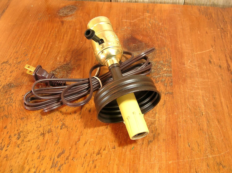 Mason Jar Lamp Adapter Kit Electrical Parts Double Bulb