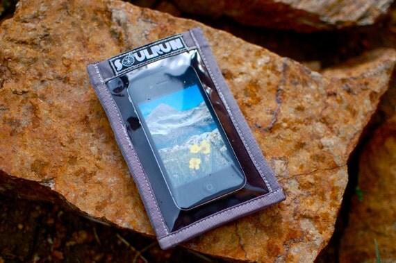 Phone Sleeve - Sparkle Black with Gray Trim