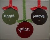 Personalized Ornaments on canvas