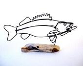 Walleye Wire Sculpture