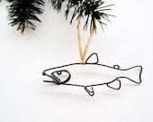 Trout Fish Ornament