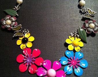 Flower Power Bib Necklace