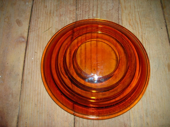 "vintage railroad light lens mckee glass amber glass 5""3/8 lamp parts bullseye lamp parts"
