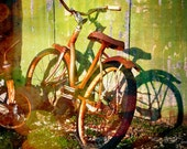 Old Bike - Rusty Bicycle - Vintage Bike - 10 x 10 Print - Fine Art Photography