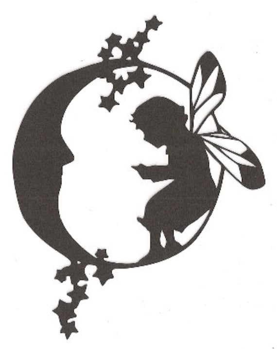 Gallery For gt Fairy On Moon Silhouette