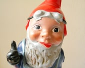 vintage gnome LARGE german garden gnome