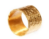 Gold Plated Ring Wide & Stylish Hand Made Crafted ** Saved for Natalie**