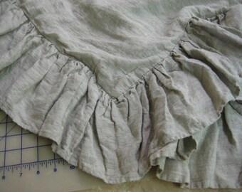 Washed Linen Long Ruffled Duvet-Medium Weight Washed Linen-Crib-Toddler-Twin-Full-Queen-King