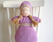Waldorf bunting doll sewing tutorial, sewing pattern, PDF file, instant download, bunting doll, girl, baby