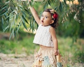 Fall into Love Handmade Patchwork Skirt Lil Rascals Vintage Inspired  Moda 12-24M/ 2T-3T/ 4T-5T