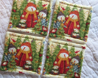 Snowman Family Coasters (Set of 4)