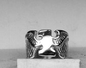 WW1 Military  Ring  Solid Sterling Silver Free Domestic Shipping