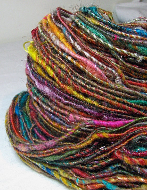 Handspun Art Yarn Corespun Sheeping Beauties 'Carnival'