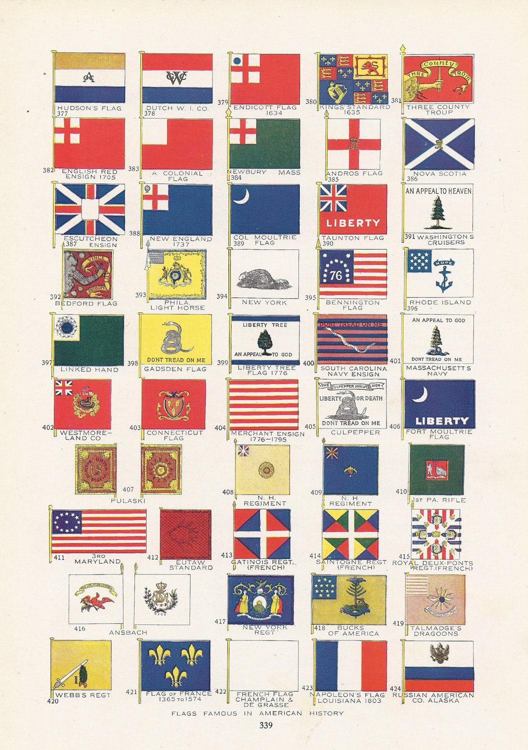 Flag print patriotic flags famous in american history for The american flag history