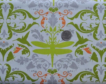 Garden of Delights dragonfly in taupe - 1 yard