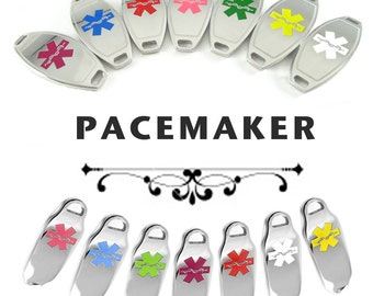 PACEMAKER Medical ID plate Pre-Engraved, for Stylish  Beaded Bracelets