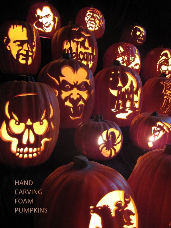 Hand Carving Foam Pumpkins the Traditional Way PDF How-To Tutorial