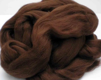"""Ashland Bay Solid Colored Merino for Spinning or Felting """"Brown""""  4 oz."""