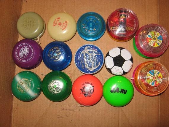 14 Yo Yos Wood Duncan Super Yo-Yo Plastic, Glow, Imperial, Neo, Light Up etc