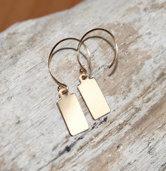 Gold Tag Earrings
