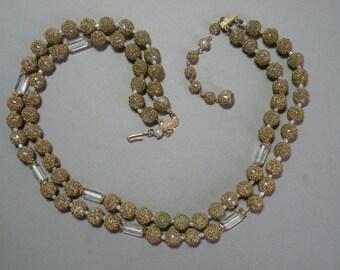 Vintage Gold Sugar Bead Necklace