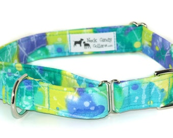 Half inch, three quarter inch or one inch wide Fabric Martingale Collar with a quick release buckle added,,,,,Choose your Fabric