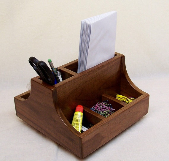 wood desk organizer items similar to wooden desk organizer lazy susan office 29682