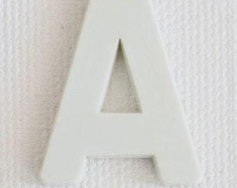 Letter A, Alphabet Art, Letter Art Print, Alphabet Photos, Photographic Art Print, Nursery Art, Baby Room Art,  White, Neutral, Calm Decor