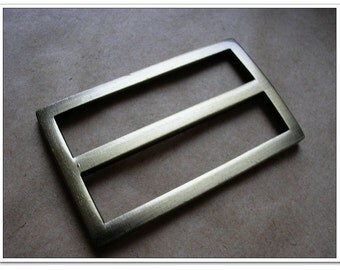 "10pcs 1.5""(inner size) alloy rectangle Flat Cast Center Bar Slide, antique brass Finish, Purse Handbag Hardware, Purse Supplies Slide Buckle"