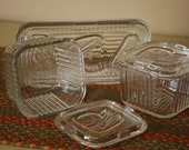 Vintage Refrigerator or Leftover Dishes, Set of Three.