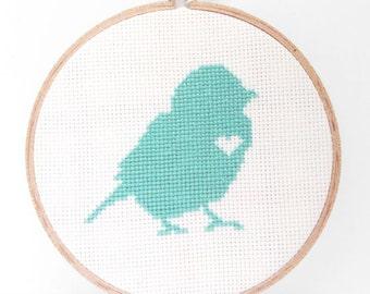 Finished Cross Stitch Wall Art - Bird 002