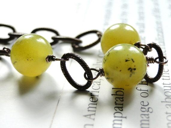 Jewelry YUM - Jade Bracelet, Boho Chic, A Bit Retro, Accessories, Gift for Her, Urban Chic Bracelet