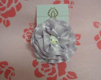 Hello Kitty light purple satin flower hair clip