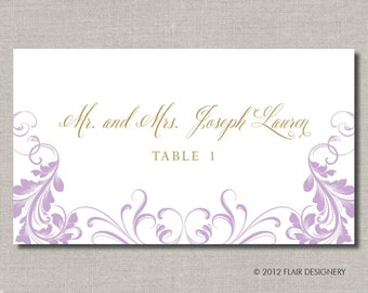Baroque Sweet Collection - Set of 100 - Any Color, Place Cards for Weddings, Parties, Events and more by Flair Designery