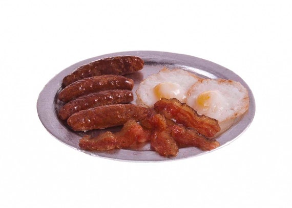 loose egg bacon and sausages miniature
