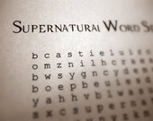 Supernatural Word Search and Find pdf digital document