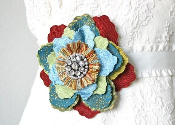 Bridal Hair Flower Custom Designed for Amy A.
