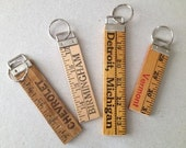 Vintage Advertising Yardstick Keychains