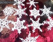 12 Beautiful One Of a Kind Crocheted Snowflakes (OK2)