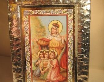 Saint Sophia, Faith, Hope and Love Stained Glass Holy Card Keepsake
