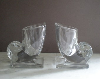 Martinsville Glass Bookends /Vase