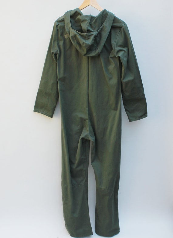 80s Vintage French Men's Hooded Military Jumpsuit - XS