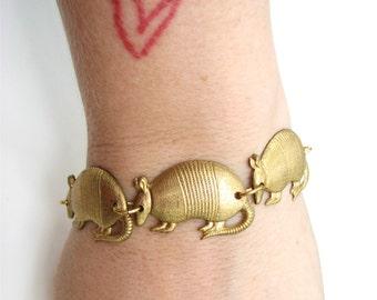 brass armadillo bracelet