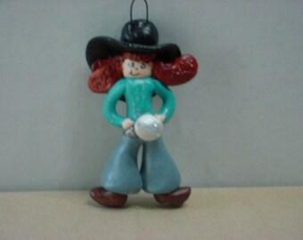 Cowgirl Dough Art Ornament 001215