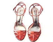 SERGIO ZELCER Satin Pink/Salmon High Heel Sandals Size 10
